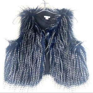 Xhilaration Faux Fur Girls Vest Blue Size 14-16 XL